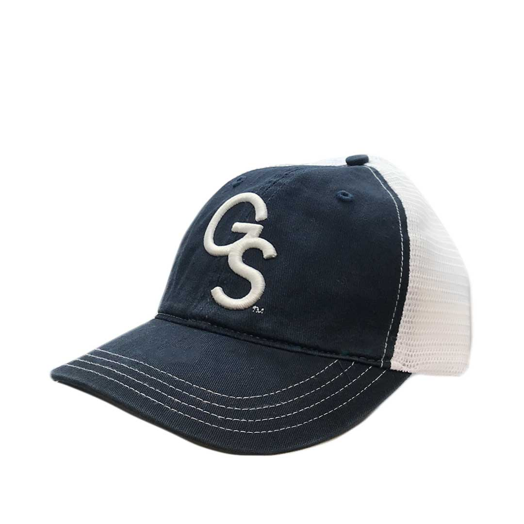 Navy/White Unstructured Trucker Hat with White GS