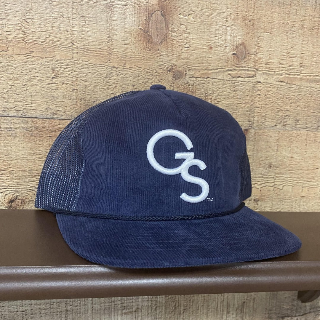 Corduroy Navy Richardson Trucker Hat with White GS