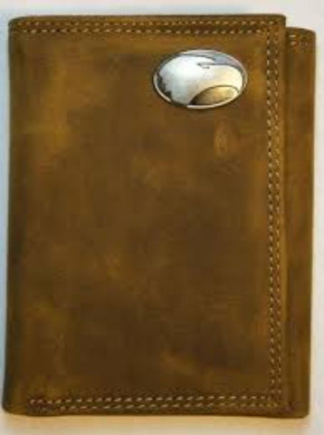 Georgia Southern Brown Leather Concho Wallet TriFold