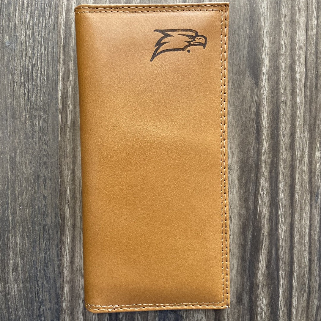 Tan Leather Roper Wallet with Georgia Southern Embossed Logo