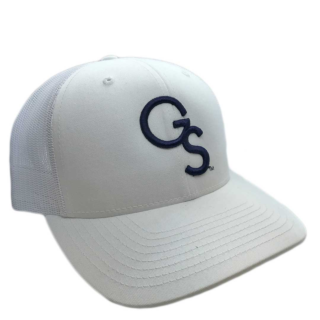 All White Trucker Hat with Navy GS
