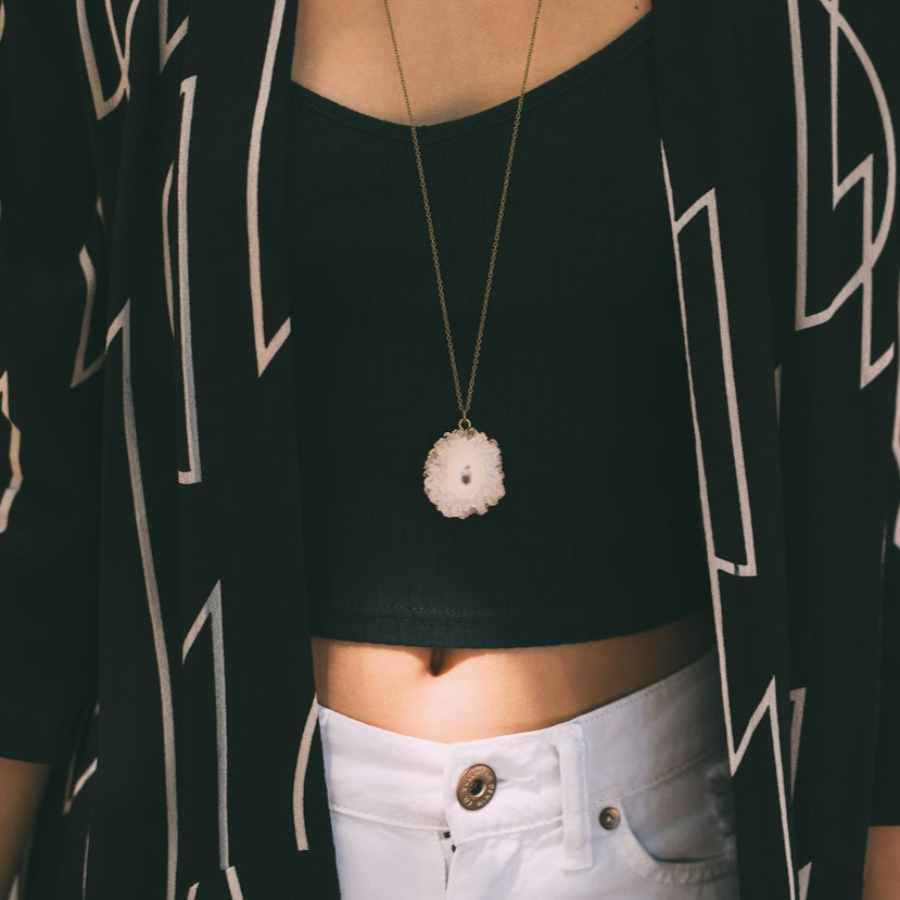 Hive Necklace - White