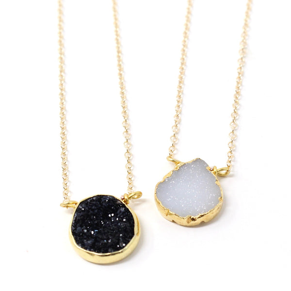 Druzy Bezel Necklaces