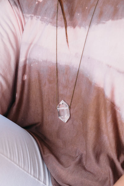 Hive Necklace - XL Quartz
