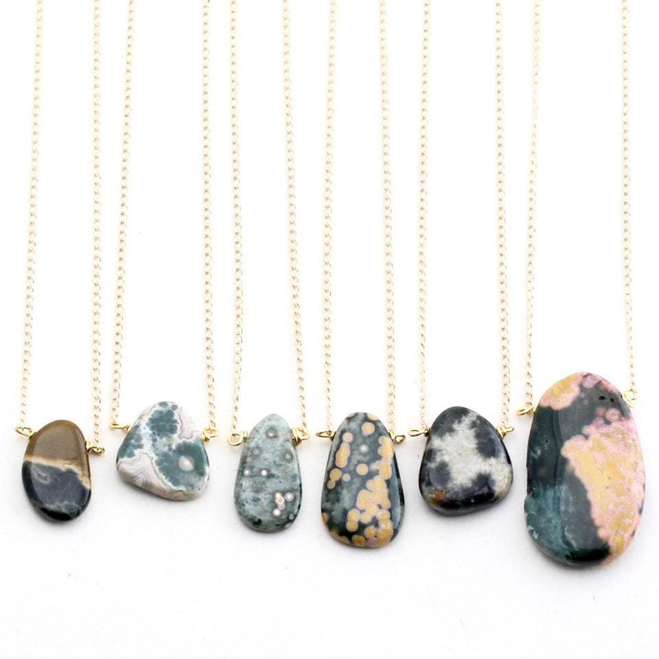 Ocean Jasper Necklace - Freeform