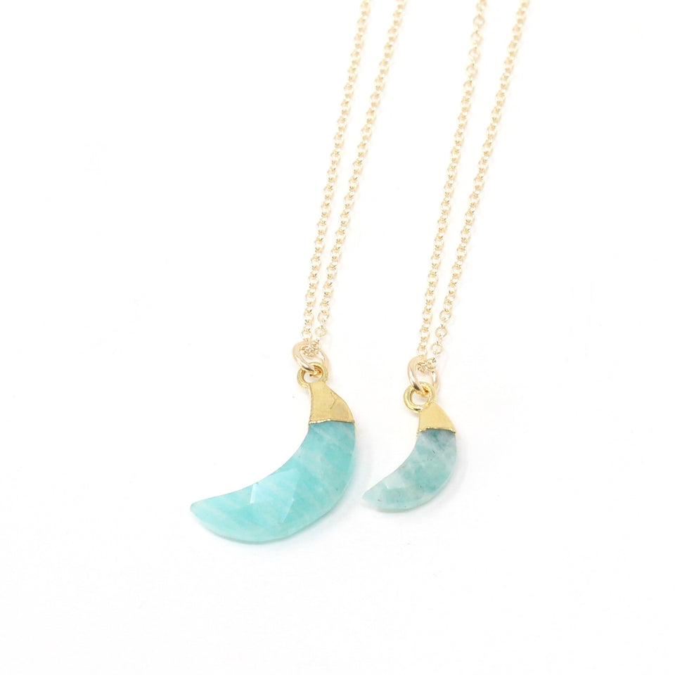 Tiny Necklaces - XS Moon Bezel