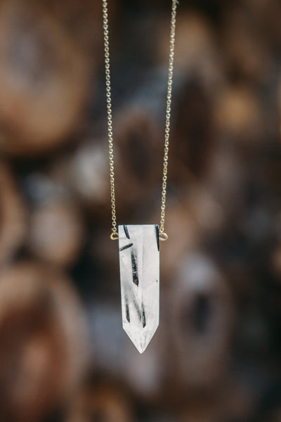 Hive Necklace - XL Tourmaline Quartz