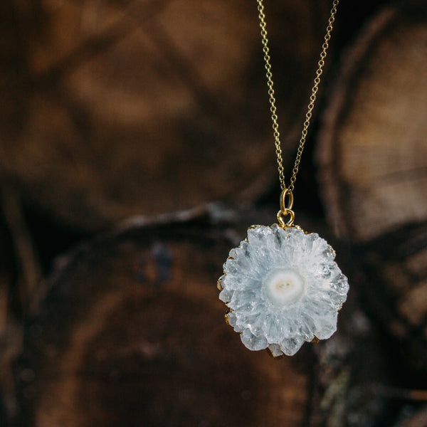 Solar Quartz Hive Necklace