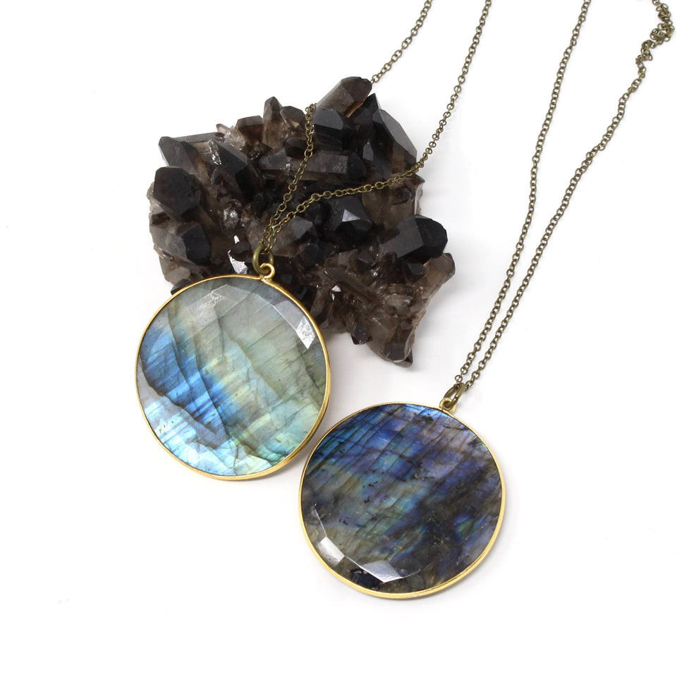 Moe Necklace - XL Labradorite