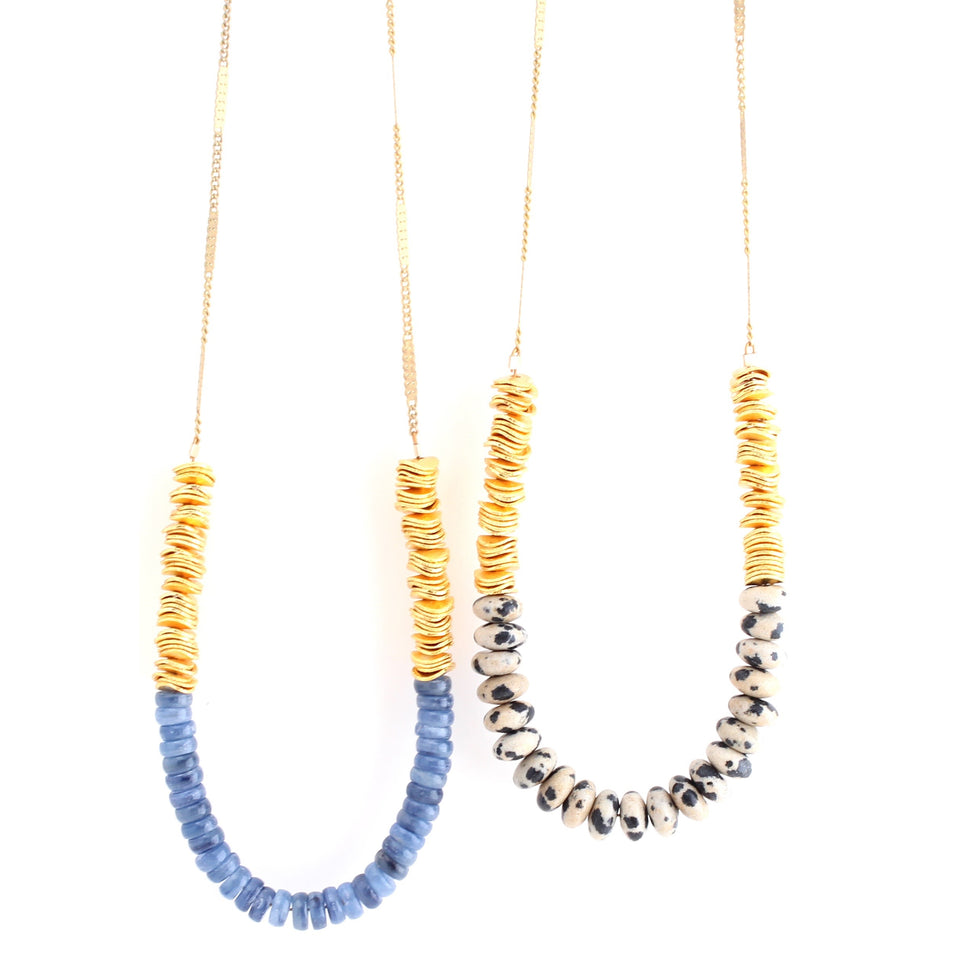 Tide Necklaces - Black/White & Blue