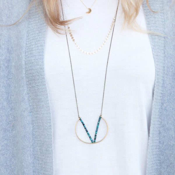 Pavo Turquoise Necklace