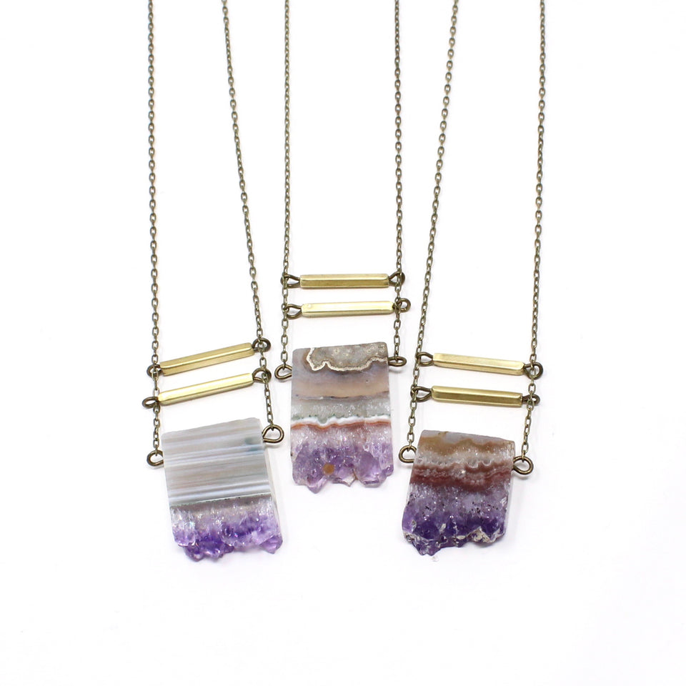 Eliza Necklace - Small Amethyst