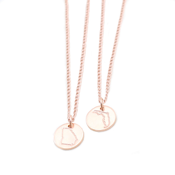State Necklace - Rose Gold