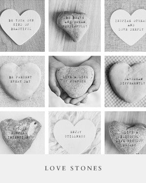 names on stone, heart shaped stones, love stones, personalized gift, nursery gift, adoption christening baptism gift, black and white photography