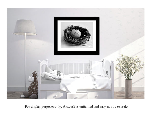 Nursery Wall Art - Personalized Baby Name Nest
