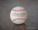 personalized baseball gifts for dad - baseball with children's names