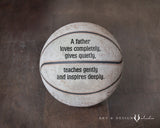 Basketball Print with Inspirational Dad Quote
