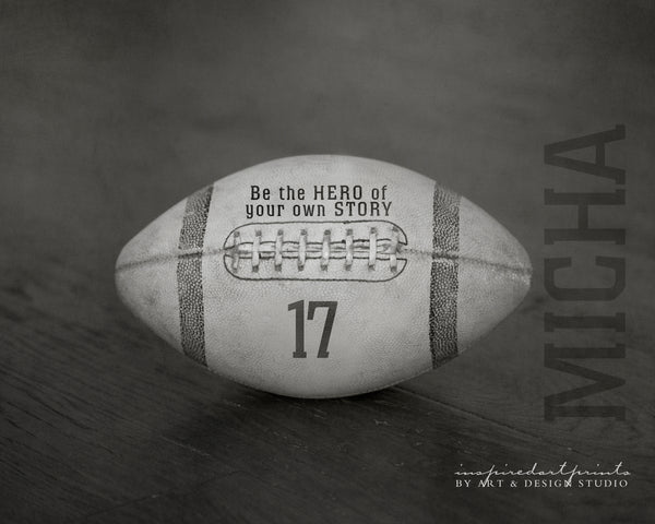 personalized football sports decor