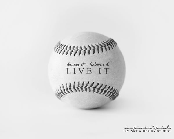 motivational sports wall art print baseball