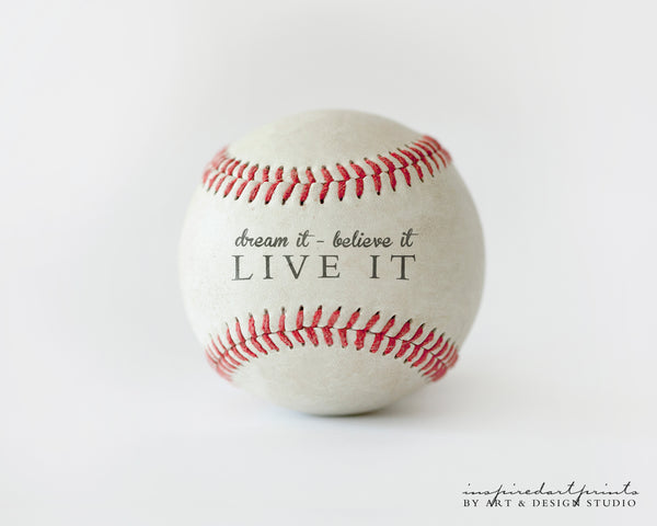 baseball nursery decor with quote