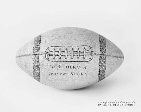 Football decor wall Art Print