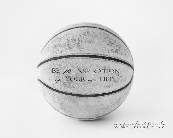 inspirational sports gifts basketball print
