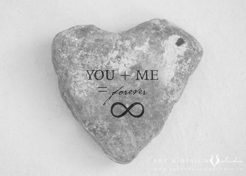 Celtic Love Print - You + Me Forever