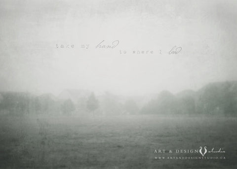 Take my Hand to Where I Lead - Gray Misty Fog Photo