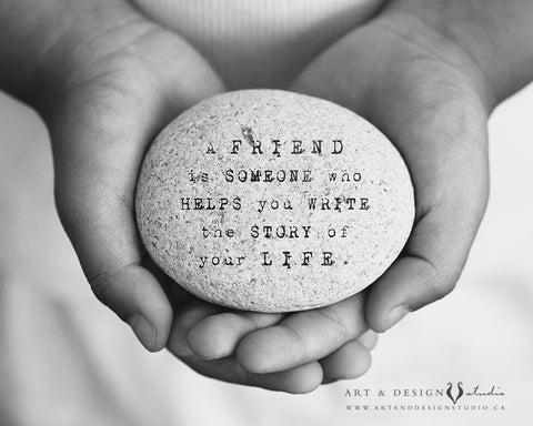 Best Friend Gift for Her - Inspirational Friendship Quote Print