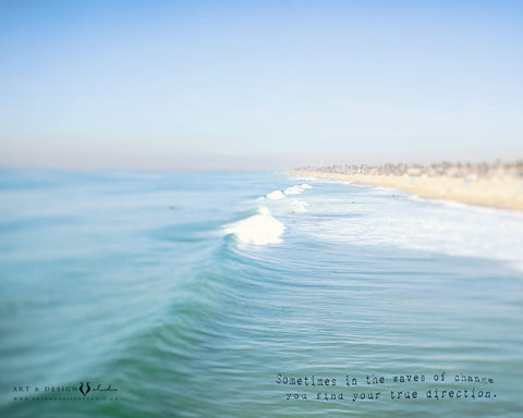 The Waves of Change - Blue Ocean Photo personalized art print wall d_cor inspiredartprints inspired art prints custom photo gifts