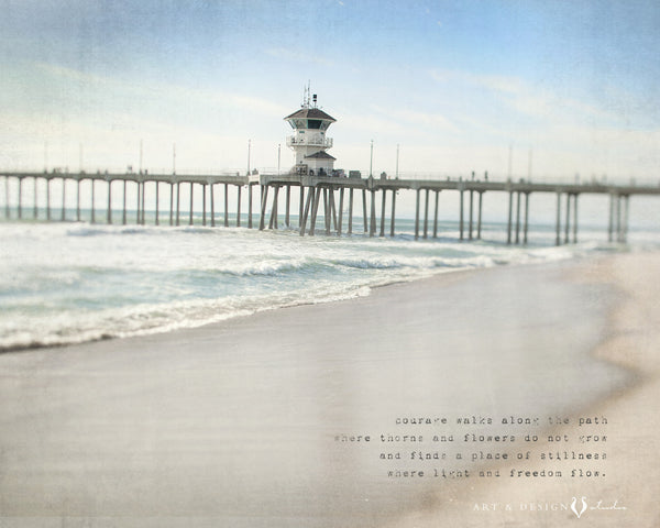 Inspiring Wall Art - California Beach Photo