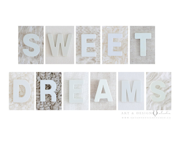 Sweet Dreams - Modern Nursery Wall Print