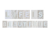Life is Beautiful -  Minimalist Decor Wall Art