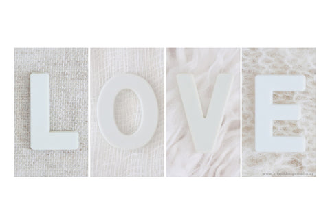 Love - His and Her Couples Art Print