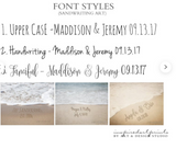 Personalized Beach Print