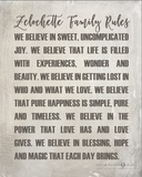 Family Rules Sign - Personalized Print
