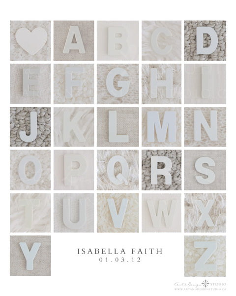The Alphabet - Wall Art Print