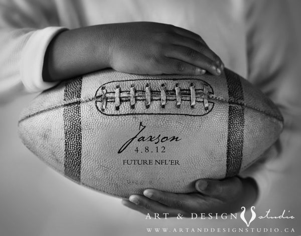 Custom Football Sports Decor Wall Art