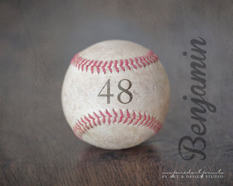 personalized baseball sports art print with name