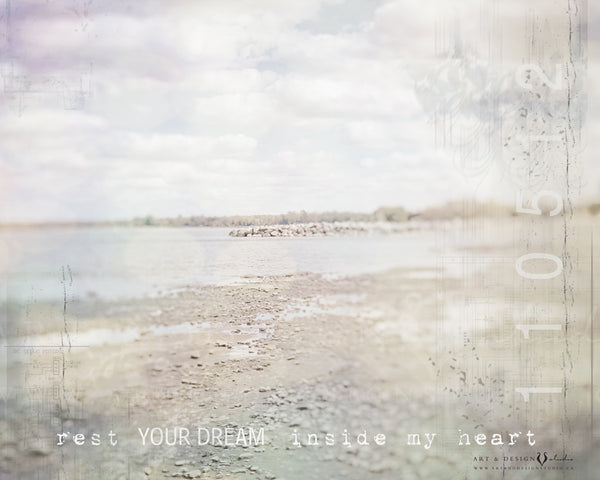 Rest your dream inside my heart | Ethereal Print