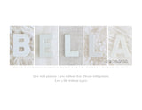 Lovely Letters Custom Name Art Panel