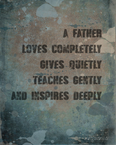 Dad Gift Father Poem Rustic Print