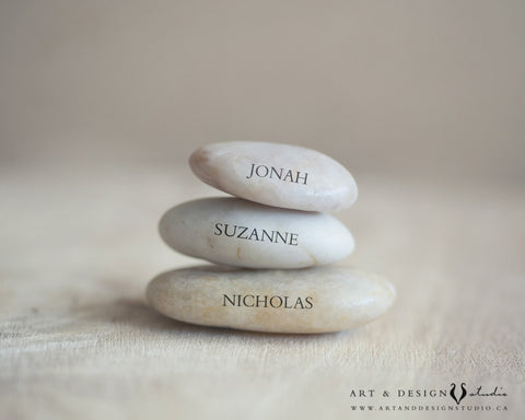 Custom Anniversary Gifts - Stacked Stones Art Print