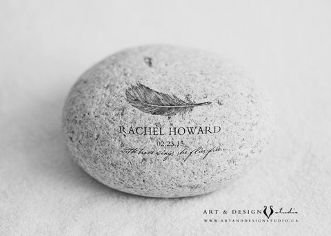 Memorial Stone Bereavement Gift Art Print
