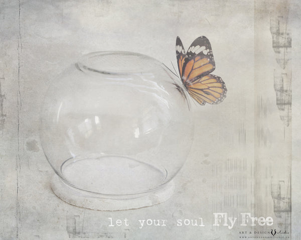 Let your soul fly free - Whimsical Home Decor Print