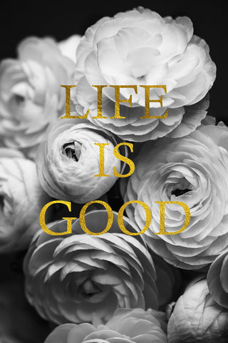Life is Good Inspirational Flower Photograph