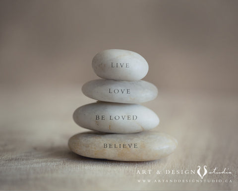 Live, Love, Be Loved, Believe - Inspirational Word Art