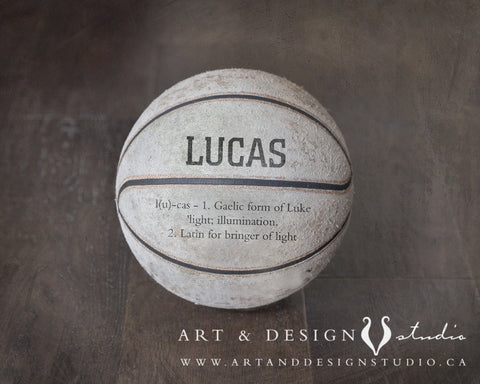 Basketball Rustic Art Print Sports Gift