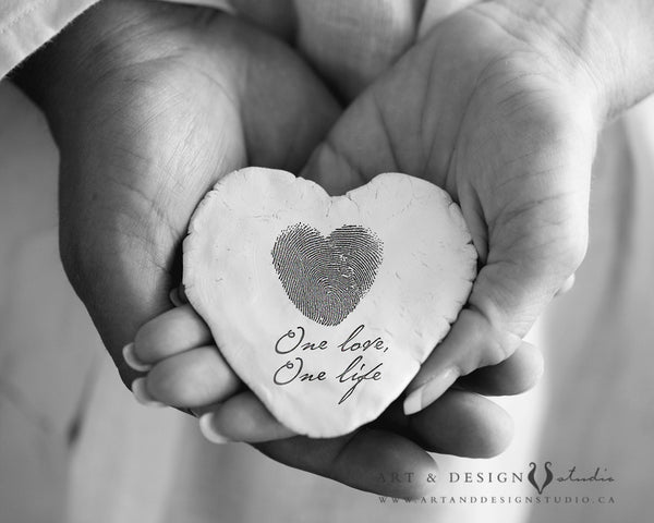 One Life, One Love - Thumbprint Heart Print