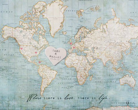World Map Travel Art Print